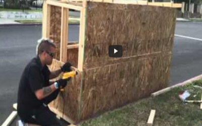 Man Builds a home for Homeless