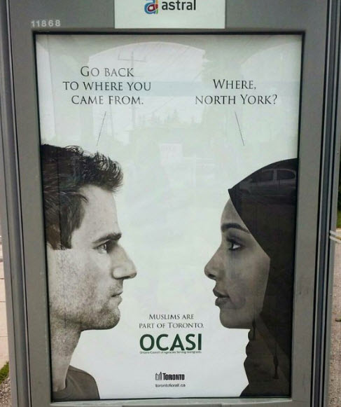 Toronto launches ad campaign against racism towards Muslims